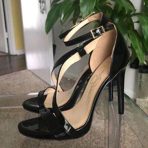 Jessica Simpson Black Stiletto Heels 8 1/2